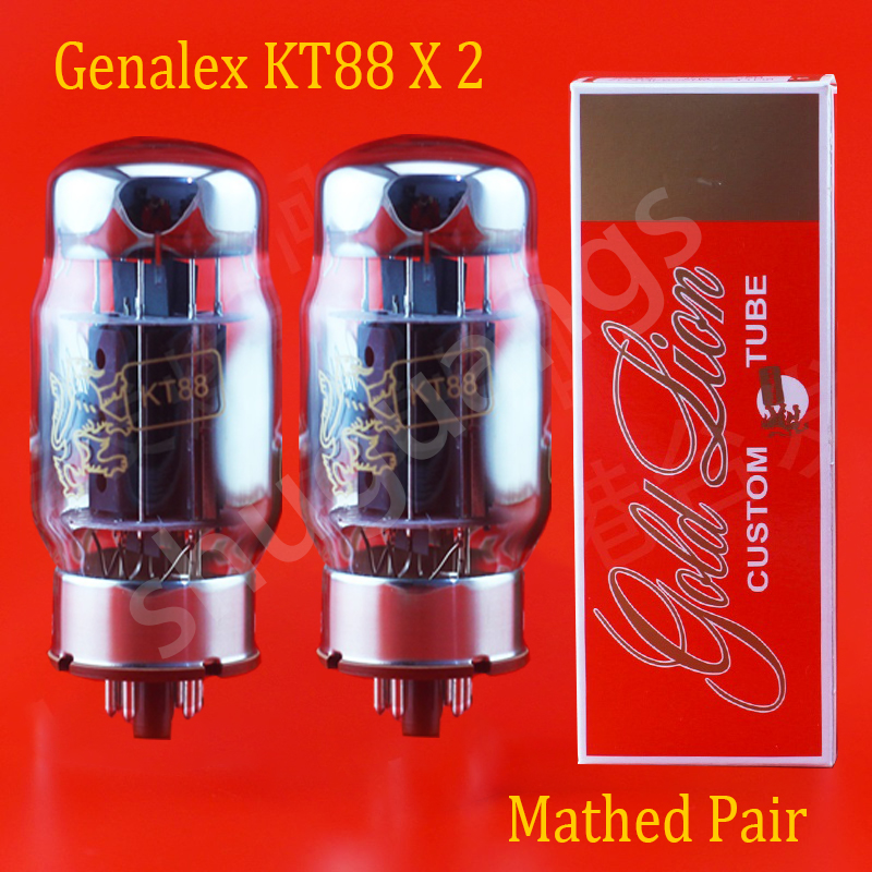 Free shipping 2pcs Gold Lion KT88 vacuum tubes for amplifier new matched pair