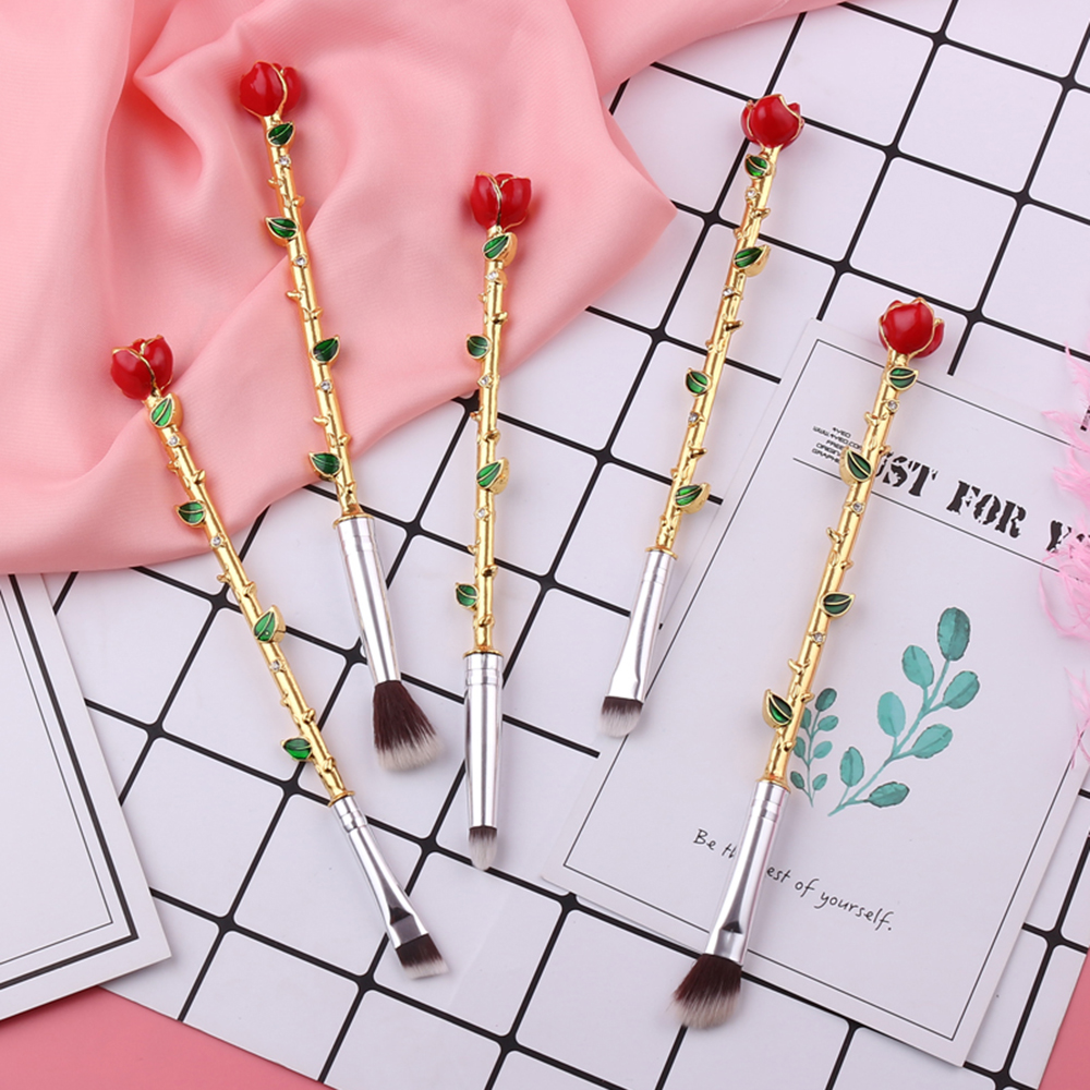 Newest beauty and the beast makeup brushes cosmetics soft fiber hair newest beauty and the beast makeup brushes cosmetics soft fiber hair crystal rose flower makeup blush eye shadow eyebrow brush in eye shadow applicator from izmirmasajfo