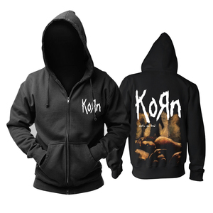 Image 5 - Bloodhoof Korn Nu Metal  heavy metal Mens black hoodie Asian Size