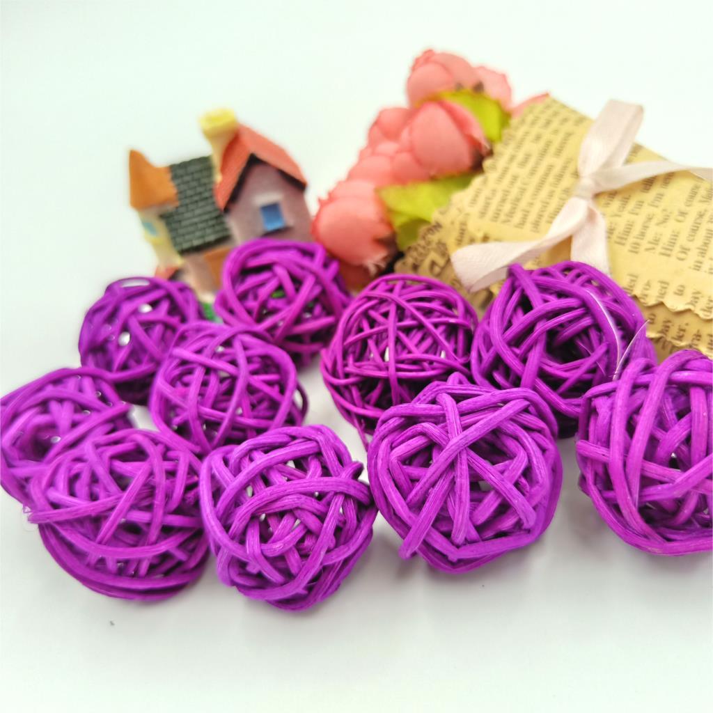 10pcs Purple 3cm Balls String Fairy Light Rattan Christmas/Party/ Wedding Party Decoration Lights Supplies