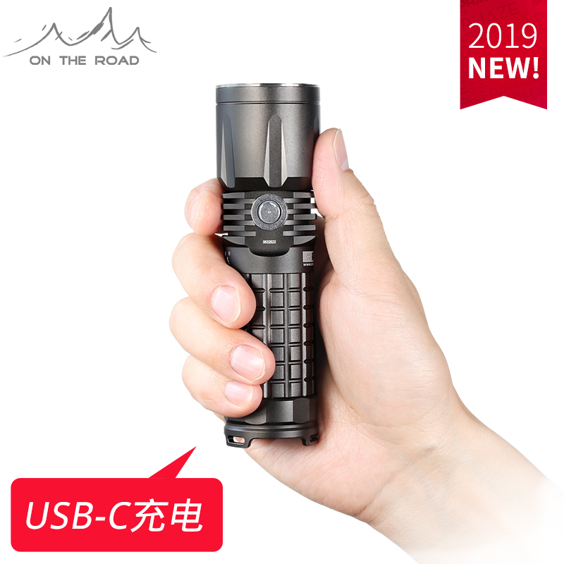 ON THE ROAD X5 Type C USB Flashlight 26650Lithium DirectCharging 18650USB C Rechargeable mini Torch LED SuperBright (No battery)-in LED Flashlights from Lights & Lighting    1
