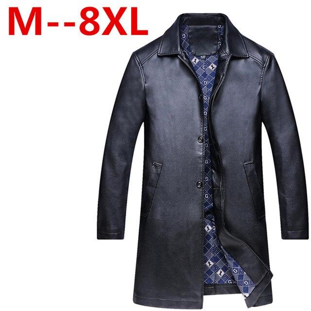 8XL 6XL 5XL leather jacket,Genuine Leather,Mandarin Collar,Sheepskin,Coat male,Leather jacket men,mens leather jackets and coats