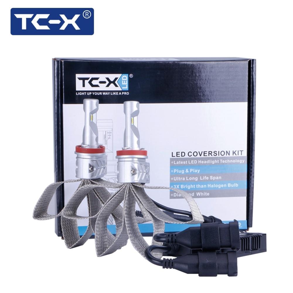 TC-X Avtolampy h8 h11 ha condotto le lampadine luci Per Mitsubishi Pajero Wagon tumanki h11 led ptf ghiaccio faro Per Toyota Prius lampade auto