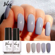 Bling 3 in 1 UV Gel Soak Off UV One Step Nail Gel Polish 6ml No Need Top Base Coat For Nails Art Vernis Semi Long Lasting