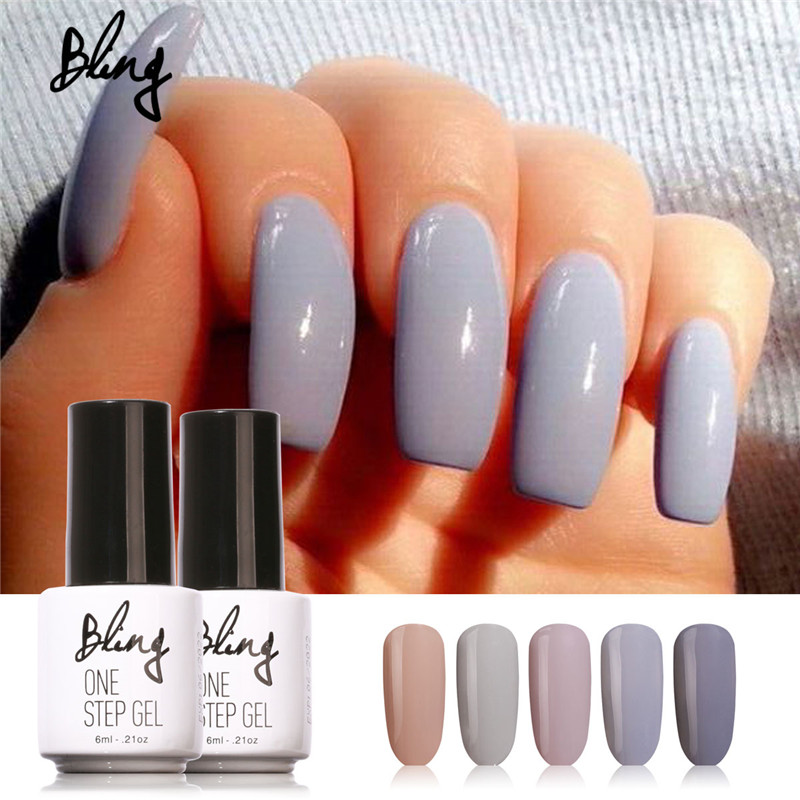 Uv Gel Nail Polish: Bling 3 In 1 UV Gel Soak Off UV One Step Nail Gel Polish