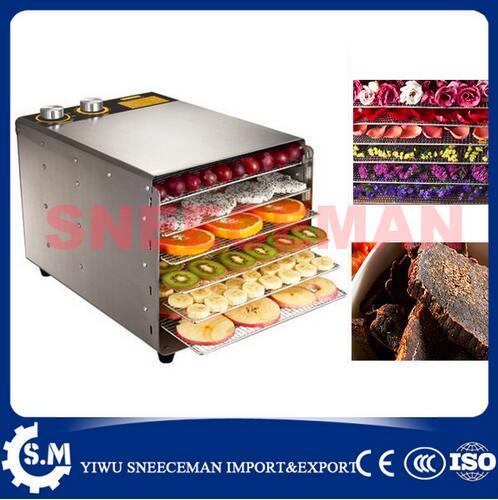 6 couches séchoir à fruits en acier inoxydable déshydrateur de fruits Machine fruits légumes viande tisane poisson séchoir robot culinaire