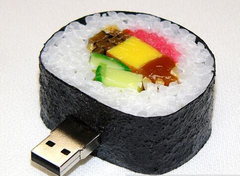100% real capacity plastic Japanese sushi food usb flash drive real capacity memory stick 8G 16G usb flash drives S72