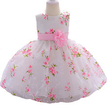 Baby Girl Formal Ball Gowns Princess Dress Infant Flower Lace Tulle Dresses Newborn Wedding Birthday Party Dress Vestidos BW150(China)