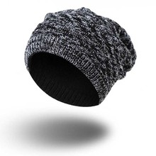 2017 new Solid Design Skullies Bonnet Winter Hats For Women Men Beanie Men's Faux Fur Warm Baggy Knitted Knit Winter Hat Caps