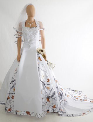 Popular camouflage wedding dresses buy cheap camouflage for Snow white camo wedding dress