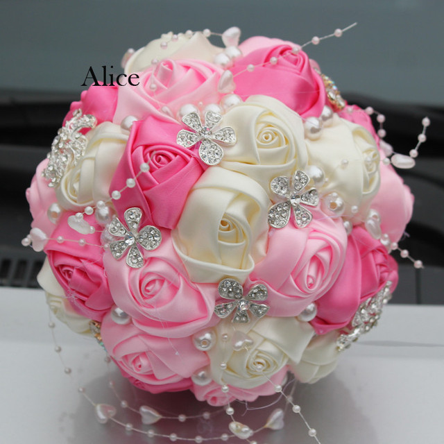 Manual Hand Hold In Both Hands Bring Bouquet Round Ball Hand Bridal Bouquet Foam Bride Bridesmaid Hand Bridal Bouquet 19WB005