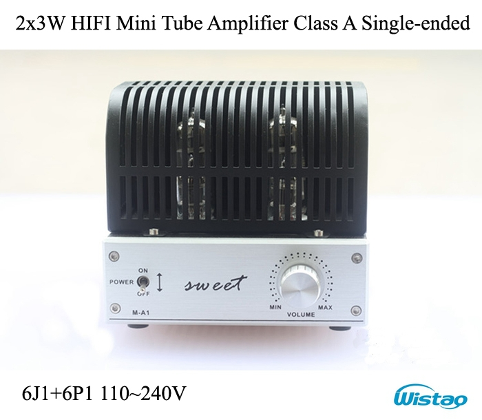 IWISTAO HIFI Mini Tube <font><b>Amplifier</b></font> <font><b>2x3W</b></font> Class A Single-ended 6J1 Preamplifier 6P1 Power Stage <font><b>Amplifiers</b></font> Desktop Audio 110~240V image