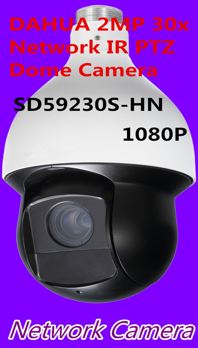 free shipping Brand 2MP 30x Network IR PTZ Dome Camera 1080P Full HD IP High speed Dome Camera SD59230T HN replace SD59230S HN