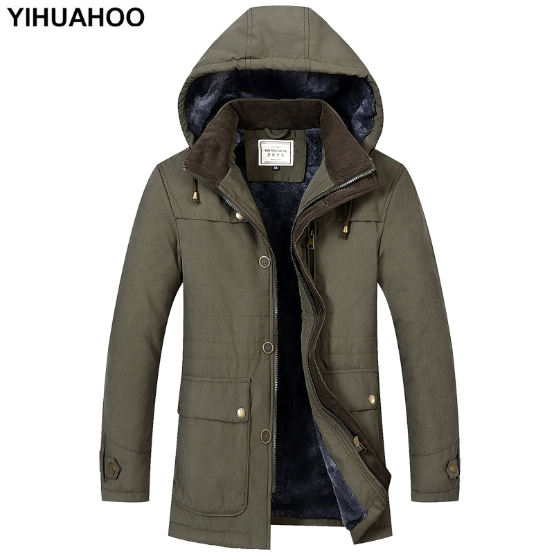 Winter Jacket Men Thick Warm Male Parka Coat Faux Fur Hooded Fleece Windproof Puffer Windbreaker Jacket Men Dropshipping FS-1612