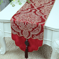 Latest Jade Jacquard High End Table Runner Rustic Fashion Simple Dining Table Protective Mats Home Decor Coffee Table Cloth