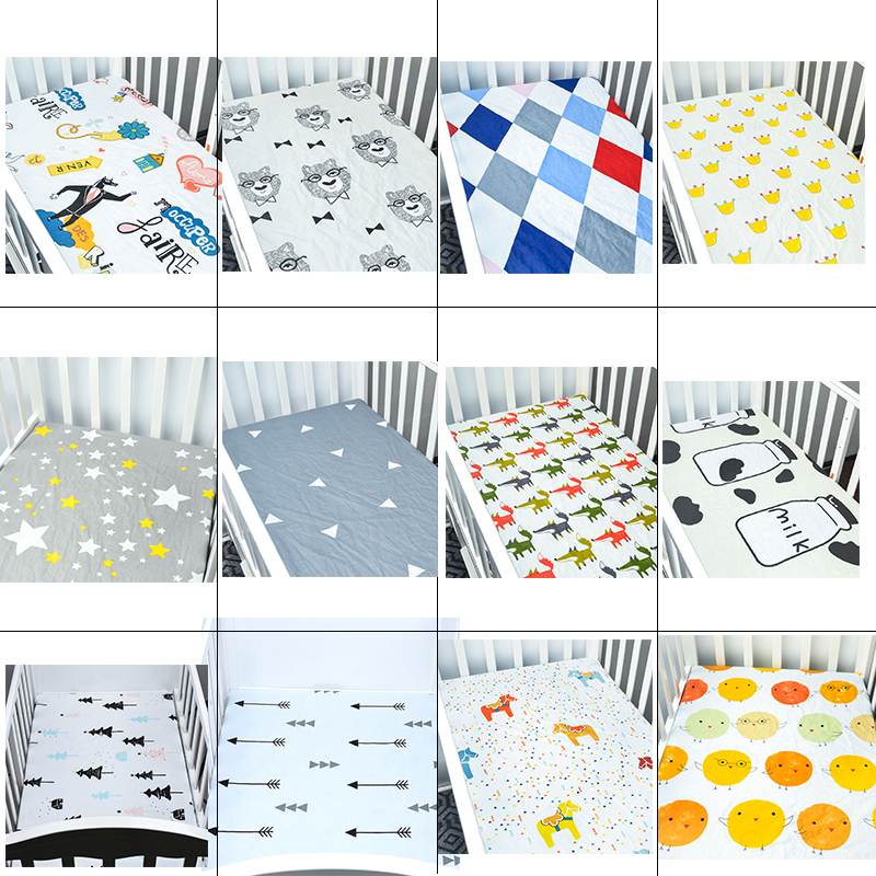 The Pony Baby Bedding Set, Baby Cotton Sheet 130 * 70 Cm Woven Fitted For Baby Diver SeStyles Good Quality Soft Baby Sheet Crib