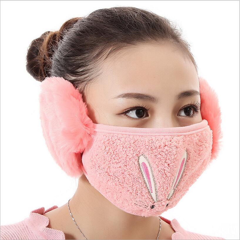 Bekleidung Zubehör Winter Staubdicht Maske Ohr Schutz Und Warm Halten Zwei-in-one Maske Mund Maske