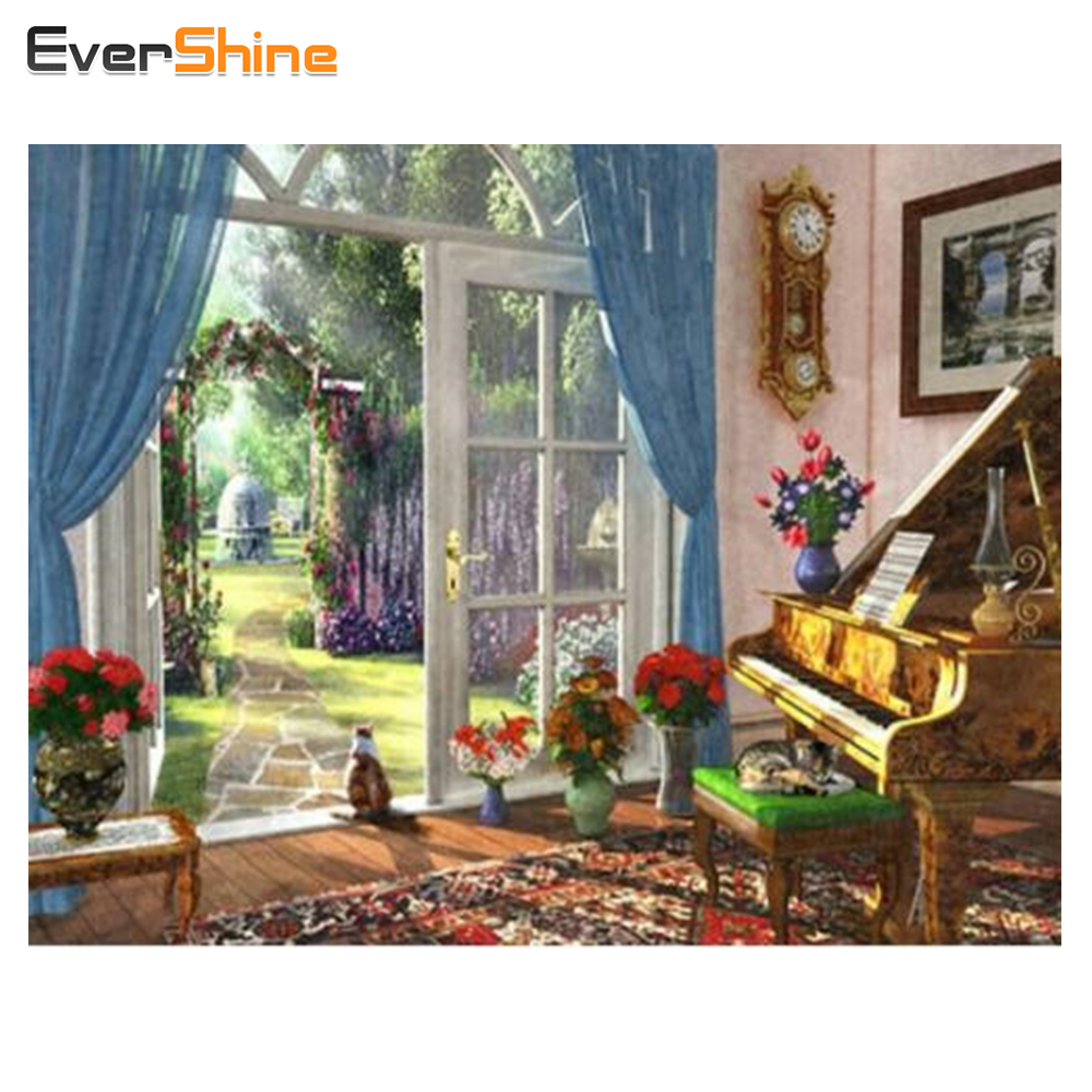 Evershine DIY алмаз Вышивка пастырской пейзажи Вышивка с кристаллами полный квадратный кристалл мозаика Домашний Декор Craft подарок