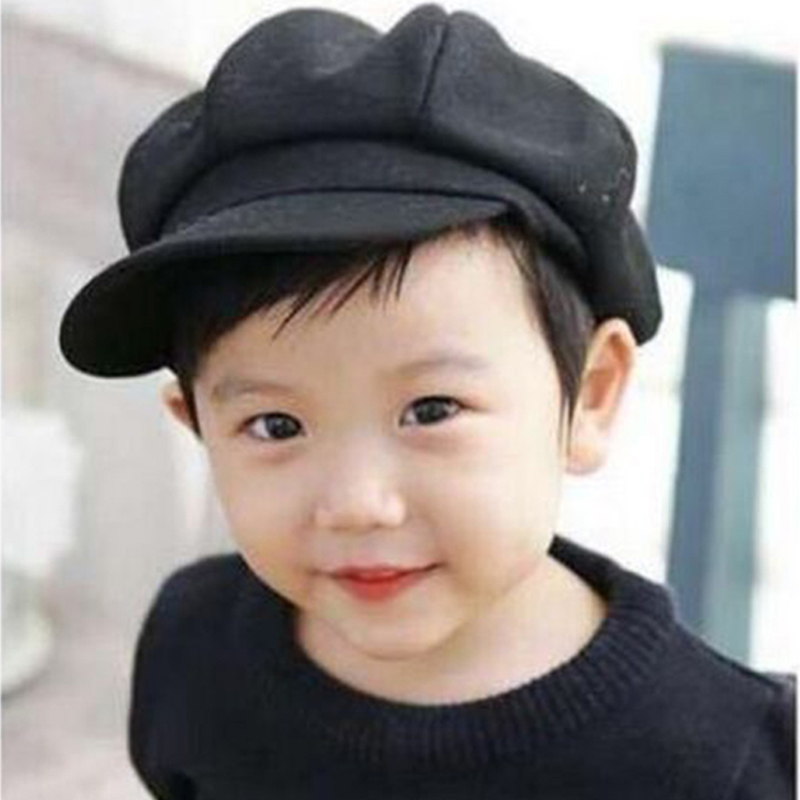 cd90d55ff US $3.56 17% OFF Fashion Newborn Photography Props Baby Boy Hats Beret Big  Brim Retro Bonnet Baby Cap For Girls 1 5 Years BB0104-in Hats & Caps from  ...
