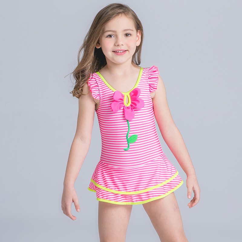 2017 Kids Swimwear For Girls Summer Beach One Piece Children Kids Bathing Suit Princess Summer ...