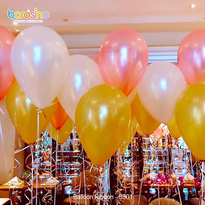 B901 5 pcsbag Free Shipping Assorted color  Balloon Curly Ribbon