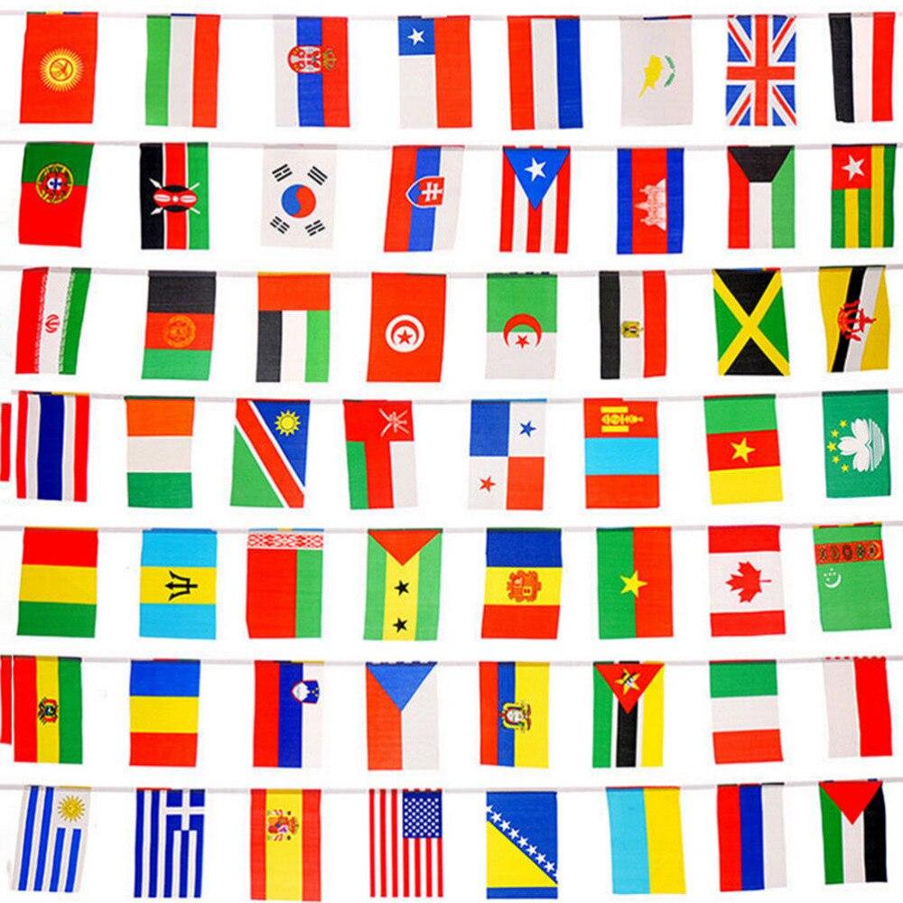 25M 100 stücke Ländern String Flagge verschiedenen Ländern String Flagge Internationalen Welt Banner Bunting bar home party dekoration