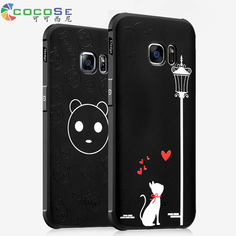 COCOSE case for Samsung Galaxy S6 S7 Edge silicone back cover 3d painted soft anti-knock luxury phone coque for Samsung S8 Plus