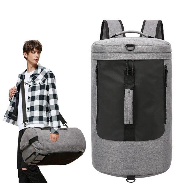 35L Waterproof Terylene Men Sport Fitness Bag Multifunction Tote Gym Bags Outdoor Travel Business Laptop Backpack Mochila
