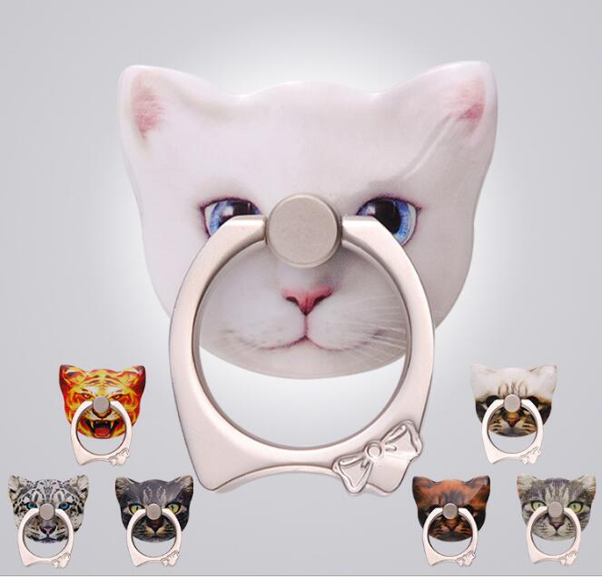 10 шт./лот Корея Мода акриловые Cat Подставки Стикеры мобильного телефона площадку кольцо держатель Интимные аксессуары для <font><b>iphone</b></font> Samsung детский п&#8230;