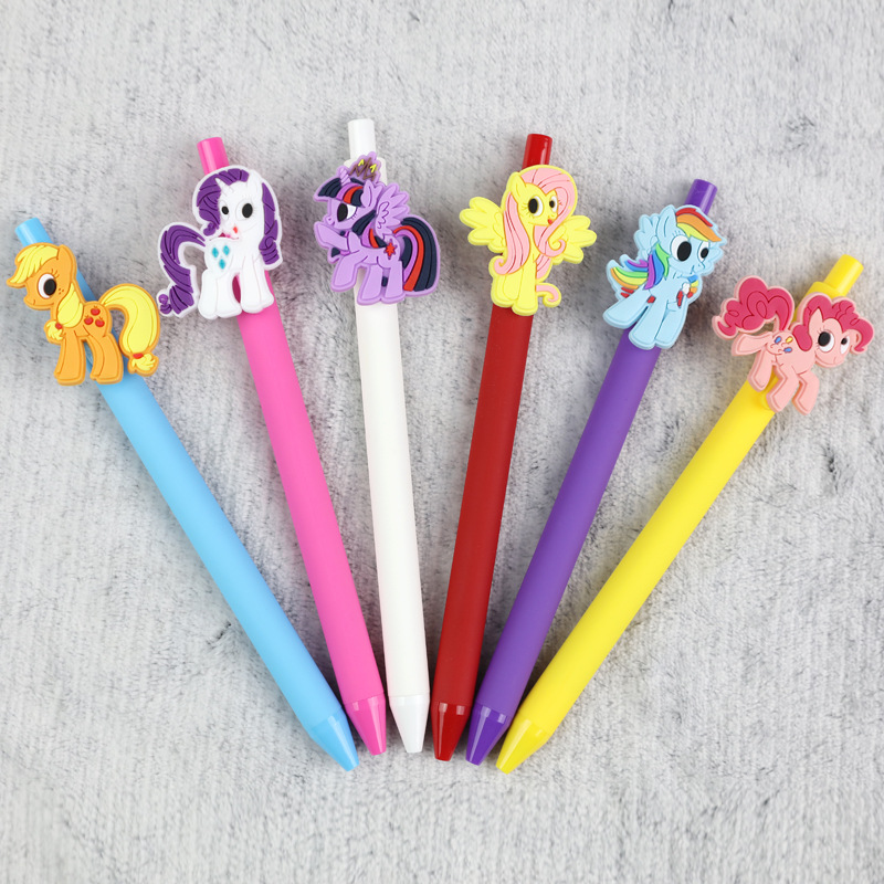 6 PCS/lot Korean Cartoon Stationery 0.5mm Black ink Gel Pen Creative Gel pen set Black Ink Pens For Students School Supplies 10 pcs lot new cute cartoon colorful gel pen set kawaii korean stationery creative gift school supplies