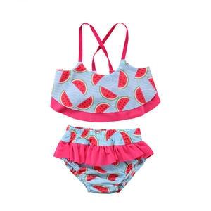 40df602f23 2 Pcs Set Watermelon Bathing Suit Swimwear 2018 Toddler Infant Kids Baby  Girls Tankini