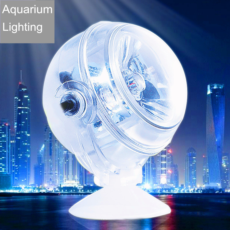 Underwater 1W Led Aquarium Light Waterproof Led Lamp For Coral Reef Fish Tank Submersible Colorful Spot Lamp Suction Cup AL001 image