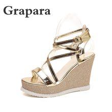 43e591e252 Gold Gladiator Platform Heels Promotion-Shop for Promotional Gold ...