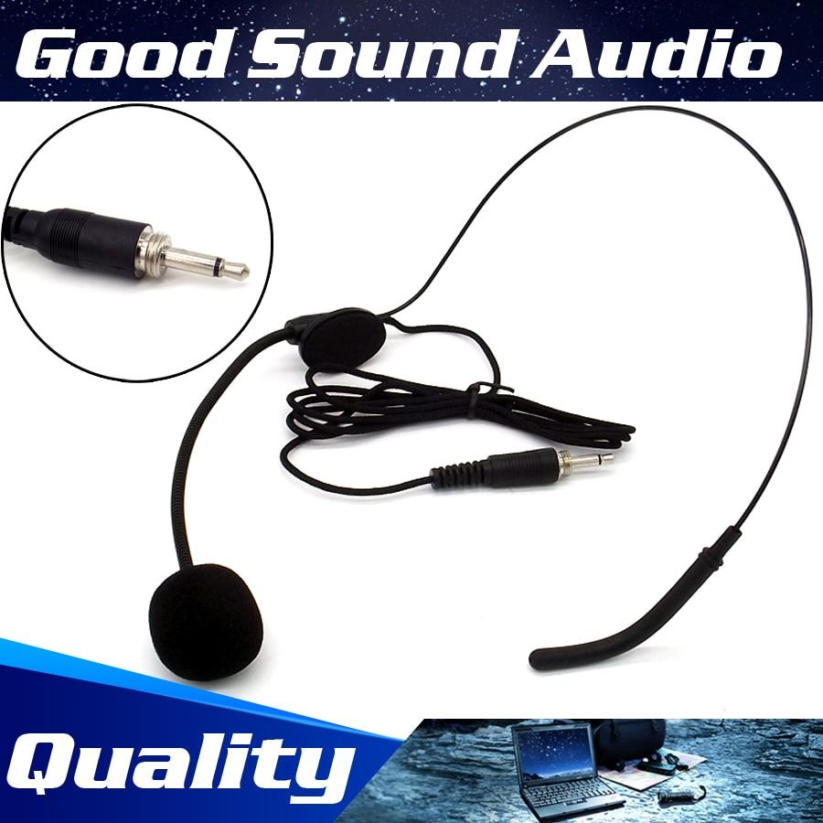 Free Shipping 3.5 Mm Screw Thread Plug Headband Mike Headworn Condenser Mic Headset Microphone For Wireless Bodypack Transmitter