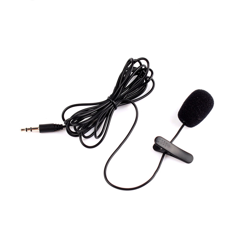 3.5mm Mini Studio Speech Mic Microphone W/ Clip For PC Desktop Notebook #20666