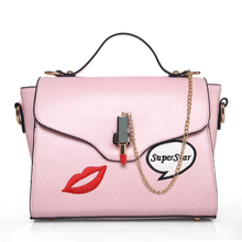 brand PU leather girl's baobao bag Fashion red lip chain handbag womens small tote bags female crossbody bags for women handbag
