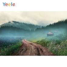 Yeele Landscape Forest Mount Chalet Drawing Decor Photography Backdrops Personalized Photographic Backgrounds For Photo Studio
