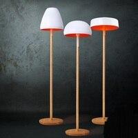 Nordic белый торшер твердой древесины торшеры гостиная спальня пол свет бар украшения гриб лампы za81588