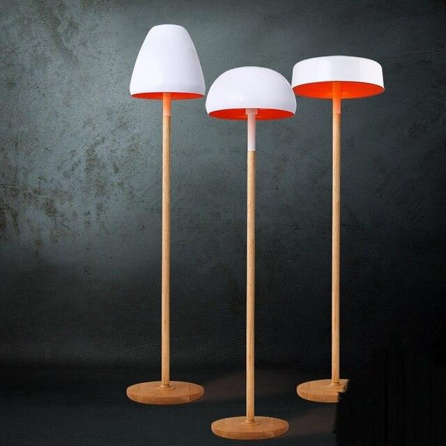 Nordic Weiß Stehleuchte Massivholz Stehlampen Wohnzimmer Schlafzimmer  Stehleuchte Bar Dekoration Pilz Lampe ZA81588