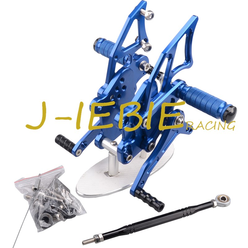 CNC Racing Rearset Adjustable Rear Sets Foot pegs Fit For Yamaha YZF R3 R25 2014 2015 BLUE stainless steel 15f flat sterile tattoo needles silver 50 pcs
