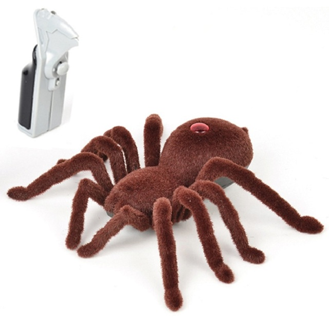 Free Shipping Hot Sales Children Baby Boys Girls 2CH Infrared Remote Control Spider Prank Toy for Halloween Chrismas