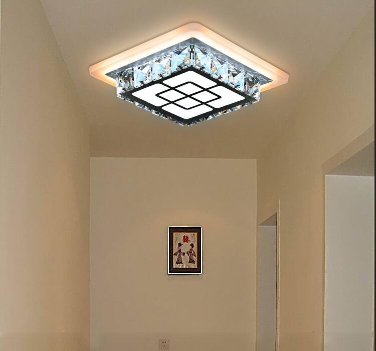 A1 LED creative ceiling lamps square hall aisle lights balcony crystal lamp entrance SJ4272