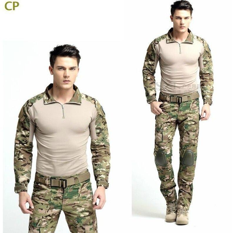 Best selling Multicam Combat Uniform Gen3 shirt + pants Military Army Suit with knee pads military uniform multicam army combat shirt uniform tactical pants with knee pads camouflage suit hunting clothes