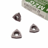 MZG Discount Price WCMX030208 ZK ZP1521 Abandon Machining Fast Drill Solid Carbide Inserts For Stainless Steel