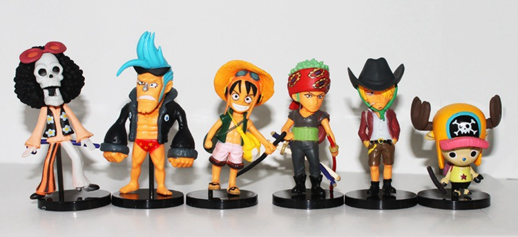 6pcs/set One Piece Figures Luffy Chopper Roronoa Zoro PVC Collection DIY Toys Action Figure