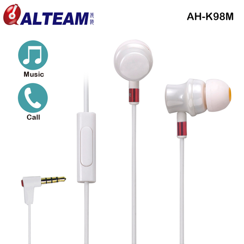 Лучший подарок высокое качество прочный 3,5 мм керамический жемчуг Белый музыка HiFi двойной сбалансированный арматура наушники с микрофоном для женщин