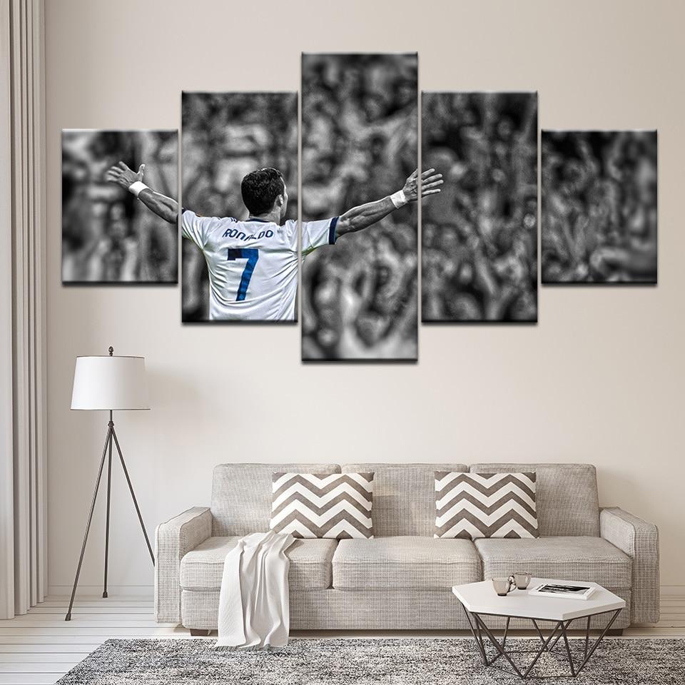 5 stuk slaapkamer decor Cristiano Ronaldo CR7 voetbal Poster Canvas - Huisdecoratie