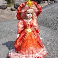 Notizie 41 CM Stile Europeo Victoria Stile Russia Bambola In Ceramica Classica Nobile Porcellana di Alta Qualità Bambola Giocattolo Regalo Per La Ragazza 69