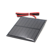 3V 3.5V 4V Solar Panel with 30cm wire Mini Solar System DIY For Battery Cell Phone Charger 0.36W 0.45W 0.9W 0.24W 0.6W 0.64W toy