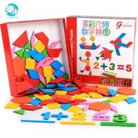 Logwood 나무 아기 장난감 나무 퍼즐 퍼즐 보드 숫자 모양 다채로운 교육 나무 보드 테이블 게임